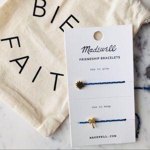 Madewell Sun and Palm Tree Bracelet Set NWT